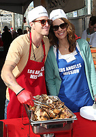 21 December 2018 - Los Angeles, California - Cameron Douglas, Viviane Thibes. Los Angeles Mission Christmas Meal for the Homeless held at Los Angeles Mission. Photo Credit: F. Sadou/AdMedia