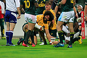 9th September 2017, nib Stadium, Perth, Australia; Supersport Rugby Championship, Australia versus South Africa; Tatafu Polota-Nau of the Australian Wallabies Scores a try during the second half against the South African Springboks