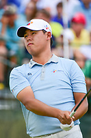 Si Woo Kim (KOR) watches his tee shot on 1 during Saturday's round 3 of the 117th U.S. Open, at Erin Hills, Erin, Wisconsin. 6/17/2017.<br /> Picture: Golffile | Ken Murray<br /> <br /> <br /> All photo usage must carry mandatory copyright credit (&copy; Golffile | Ken Murray)