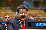 DSG meeting<br /> <br /> AM Plenary General DebateHis<br /> <br /> His Excellency Nicolas MADURa MOROS President of the Bolivarian Republic of Venezuela