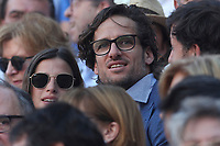 San Isidro Bullfight Festival at Las Ventas bull round in Madrid on May 15, 2019.<br /> Feliciano Lopez and his girlfriend Sandra Gago