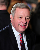 """United States Senator Dick Durbin (Democrat of Illinois) at the ceremony where U.S. President Barack Obama and first lady Michelle Obama honored recipients of the 2010 Medal of Freedom, """"the Nation's highest civilian honor presented to individuals who have made especially meritorious contributions to the security or national interests of the United States, to world peace, or to cultural or other significant public or private endeavors"""", in the East Room of the White House in Washington, D.C. on Tuesday, February 15, 2011..Credit: Ron Sachs / CNP"""