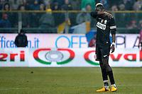 Paul Pogba delusione Juventus.Calcio Parma vs Juventus.Campionato Serie A - Parma 13/1/2013 Stadio Ennio Tardini.Football Calcio 2012/2013.Foto Federico Tardito Insidefoto