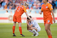Houston, TX - Sunday April 14, 2019: 2019 NWSL regular season home opener between the Houston Dash and the Reign FC at BBVA Compass Stadium.