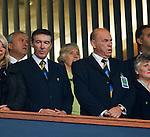 Gordon Smith and George Peat in the Hampden directors box