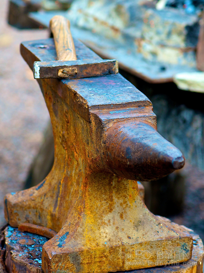 Blacksmith's hammer and anvil