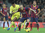 14.12.2013. Barcelona, Spain. La Liga, day 16. Picture show Andres Iniesta in action during match between FC Narcelona against Villareal at Camp Nou