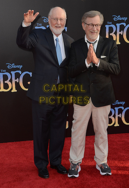 21 June 2016 - Hollywood. John Williams, Steven Spielberg. Arrivals for the Premiere Of Disney's &quot;The BFG&quot; held at El Capitan Theater. <br /> CAP/ADM/BT<br /> &copy;BT/ADM/Capital Pictures