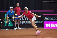The Netherlands, Den Bosch, 20.04.2014. Fed Cup Netherlands-Japan, Kurumi Nara (JPN)<br /> Photo:Tennisimages/Henk Koster