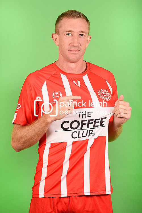 during the Olympic FC men's headshot session at Goodwin Park on March 6, 2019 in Brisbane, Australia. (Photo by Patrick Kearney/Olympic FC)