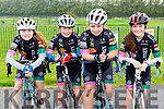 Saidbh Murphy, Aimhá Russell-Kissane, Sarah McGrath and Tara Russell-Kissane at the Nicolas Roche cycle in Killarney on Sunday
