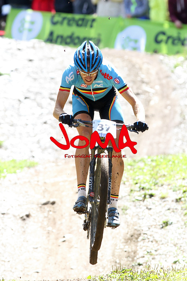 05.09.2015 La Massana Andorra. 201 UCI Mountain Bike World Champions.Picture show Van Hoovels Kevin (BEL) in action during Men ELite Cross-country Olympic World Champions