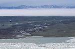 Beaufort sea coast aerial, Alaska