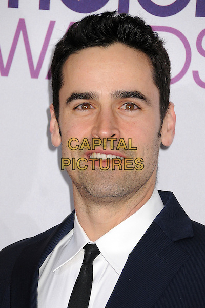 Jesse Bradford.People's Choice Awards 2013 - Arrivals held at Nokia Theatre L.A. Live, Los Angeles, California, USA..January 9th, 2013.headshot portrait black tie white shirt blue .CAP/ADM/BP.©Byron Purvis/AdMedia/Capital Pictures.