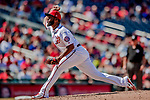 23 August 2018: Washington Nationals pitcher Wander Suero on the mound against the Philadelphia Phillies at Nationals Park in Washington, DC. The Phillies shut out the Nationals 2-0 to take the 3rd game of their 3-game mid-week divisional series. Mandatory Credit: Ed Wolfstein Photo *** RAW (NEF) Image File Available ***