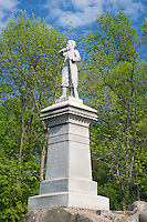 Gettysburg National Military Park, PA<br /> Monument to the PA 155th infantry on Little Round Top