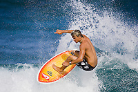JULIAN WILSON (AUS) surfing on the North Shore,Oahu, Hawaii.  Photo: Joli