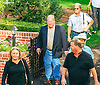 people in the paddock before The Buzz Brauninger Arabian Distaff (grade 1) at Delaware Park on 9/2/16