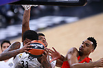 Turkish Airlines Euroleague.<br /> Final Four - Vitoria-Gasteiz 2019.<br /> Semifinals.<br /> CSKA Moscow vs Real Madrid: 95-90.<br /> Trey Thompkins, Walter Tavares & Cory Higgins.