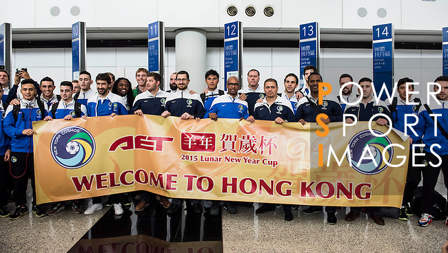 New York Cosmos players arrive to the Hong Kong International Airport ahead AET Lunar New Year Cup on 15 February 2015 in Hong Kong, China. Photo by Anthony Kwan / Power Sport Images