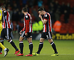 Enda Stevens of Sheffield Utd walks off the pitch frustrated during the Championship match at Bramall Lane Stadium, Sheffield. Picture date 30th December 2017. Picture credit should read: Simon Bellis/Sportimage