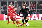 December 5th 2017, Allianze Arena, Munich, Germany. UEFA Champions league football, Bayern Munich versus Paris St Germain;  MARCO VERRATTI (psg) watches as Franck RIBERY (bay) clips the ball away