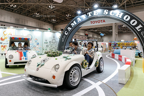 Visitors enjoy testing a Toyota car at the International Tokyo Toy Show 2017 in Tokyo Big Sight on June 1, 2017, Tokyo, Japan. Japan's biggest exhibition for the toy industry showcases some 35,000 toys from 153 toy makers from Japan and overseas. The show runs from June 1st to 4th. (Photo by Rodrigo Reyes Marin/AFLO)