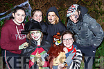 Muireann Ní Dhulllaíing, Nicole Ní Chonichuir, Lia Ní Ódhrain, Grace Ní Chonichuir, Dervala Ní Quirke, Sam de Thriionnbheion Gaelcolaiste Tralee at the Knocknagoshel Ghost Trail on Sunday night
