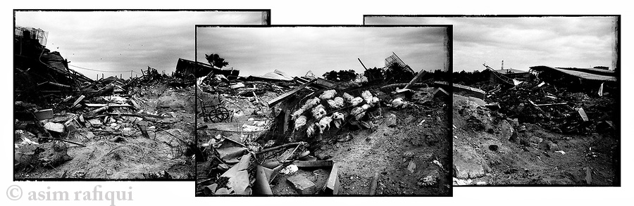 Location: Zeytoun, Gaza City..The remains of what was once a poulty farm near the homes of the Somouni family - 28 members of the family were killed during Israel's operation 'Cast Lead', and most all their homes and businesses in the area were destroyed...The Israeli Army claims that it is investigating the incident at this site.