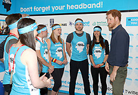 19 April 2017 - Prince Harry meets runners as he officially opens the Virgin Money London Marathon Expo at ExCel in London. Prince Harry, who is Patron of the London Marathon Charitable Trust, will meet runners and hand out race numbers, along with special edition Heads Together headbands, which is the official Charity of the Year for this year?s marathon. Photo Credit: ALPR/AdMedia