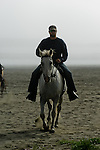 Horseback riding on the beach in Crescent City