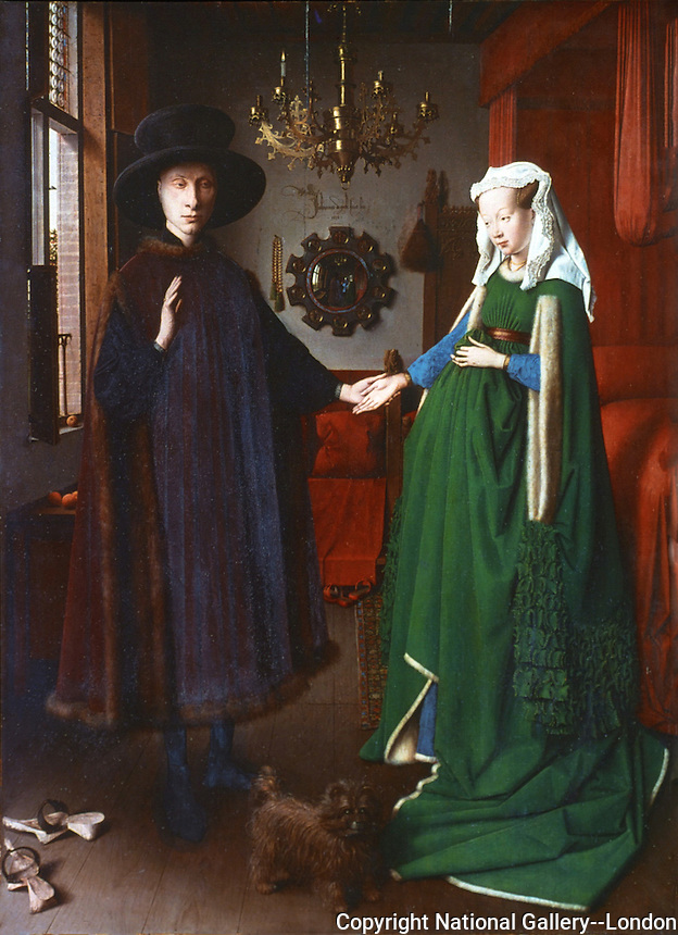 Paintings:  Jan Van Eyck--The Amolfini Marriage.  National Gallery-London.  Reference only.