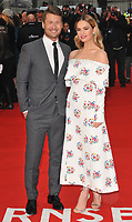Glen Powell and Lily James at the &quot;The Guernsey Literary And Potato Peel Pie Society&quot; world film premiere, Curzon Mayfair cinema, Curzon Street, London, England, UK, on Monday 09 April 2018.<br /> CAP/CAN<br /> &copy;CAN/Capital Pictures