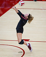 STANFORD, CA - November 4, 2018: Morgan Hentz at Maples Pavilion. No. 2 Stanford Cardinal defeated the Utah Utes 3-0.