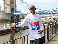 APR 17 London Marathon Photocall with Sir Mo Farah