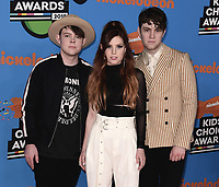LOS ANGELES, CA - MARCH 24:  Echosmith at Nickelodeon's 2018 Kids' Choice Awards at The Forum on March 24, 2018 in Los Angeles, California. (Photo by Scott KirklandPictureGroup)