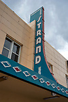 Vintage Strand Theater sign in Kalispell, Montana