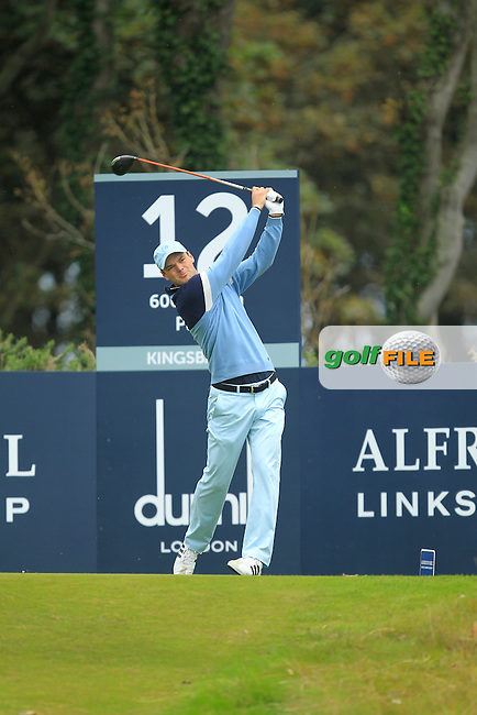 Martin Kaymer (GER) during Round 2 of the Alfred Dunhill Links Championship at Kingsbarns Golf Club on Friday 27th September 2013.<br /> Picture:  Thos Caffrey / www.golffile.ie