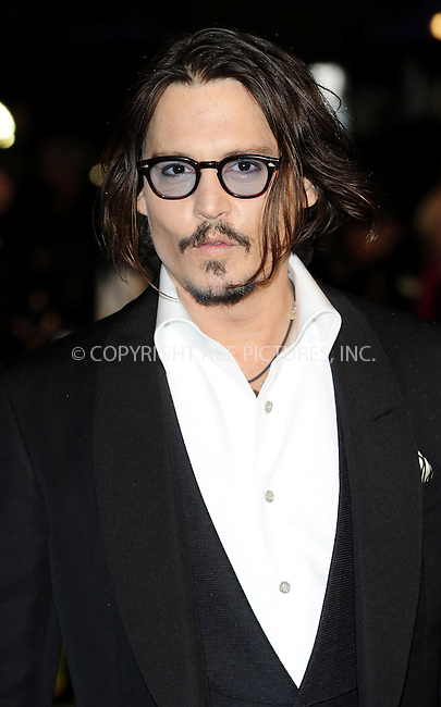 """WWW.ACEPIXS.COM . . . . .  ..... . . . . US SALES ONLY . . . . .....February 25 2010, New York City....Johnny Depp at the UK premiere of """"Alice in Wonderland"""" on February 25 2010 in London......Please byline: FAMOUS-ACE PICTURES... . . . .  ....Ace Pictures, Inc:  ..tel: (212) 243 8787 or (646) 769 0430..e-mail: info@acepixs.com..web: http://www.acepixs.com"""