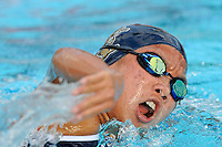 15 October 2010:  FIU's Jennifer Lee competes in the 1,000 yard freestyle during the meet between the FIU Golden Panthers and the University of Miami Hurricanes at the Norman Whitten Student Union Pool in Coral Gables, Florida.