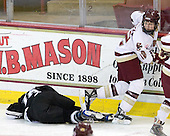 Katy Beach (Providence - 16), Shannon Webster (Boston College - 12) - The Providence College Friars defeated the Boston College Eagles 2-1 (shootout) on Saturday, February 21, 2009, on BC's senior night at Conte Forum in Chestnut Hill, Massachusetts.