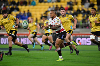 Lions' Elton Jantjies in action during the Super Rugby - Hurricanes v Lions at Westpac Stadium, Wellington, New Zealand on Saturday 5 May 2018.<br /> Photo by Masanori Udagawa. <br /> www.photowellington.photoshelter.com