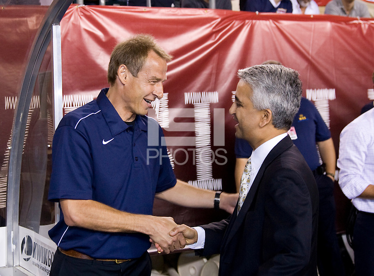 Jurgen Klinsmann, Sunil Gulati. The USMNT tied Mexico, 1-1, during their game at Lincoln Financial Field in Philadelphia, PA.