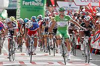 John Degenkolb celebrates the victory in the stage of La Vuelta 2012 between Ponteareas and Sanxenxo.August 28,2012. (ALTERPHOTOS/Acero) /NortePhoto.com<br /> <br /> **CREDITO*OBLIGATORIO** <br /> *No*Venta*A*Terceros*<br /> *No*Sale*So*third*<br /> *** No*Se*Permite*Hacer*Archivo**<br /> *No*Sale*So*third*