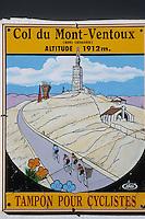Europe/France/Provence-Alpes-Côte d'Azur/84/Vaucluse/Mont Ventoux (1909 mètres): Enseigne de cyclotourisme