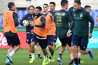 Roberto Mancini looks at his players during the training <br /> Roma 11-10-2019 Stadio Olimpico <br /> European Qualifiers Qualifying round <br /> Italy - Greece day -1 training<br /> Photo Andrea Staccioli/Insidefoto