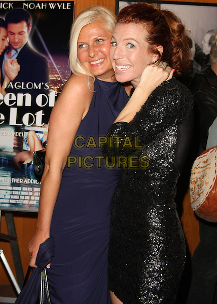"DAISY WHITE & TANNA FREDERICK.Henry Jaglom's ""Queen Of The Lot"" Los Angeles Premiere held at the Directors Guild of America, West Hollywood, CA, USA..November 18th, 2010.half length blue purple sleeveless dress side black hand.CAP/ADM/TB.©Tommaso Boddi/AdMedia/Capital Pictures."