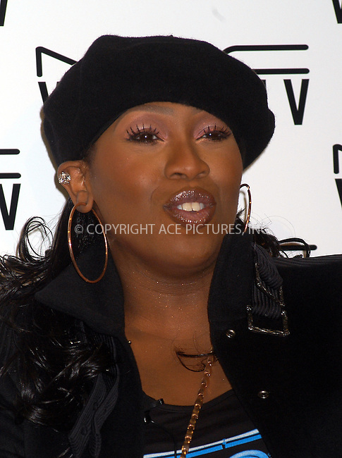 M.A.C. Cosmetics announces Missy Elliott as spokesperson for the M.A.C. AIDS Fund's new Viva Glam V Campaign. New York, February 11, 2004. Please byline: AJ SOKALNER/ACE Pictures.   ..*PAY-PER-USE*      ....IMPORTANT: Please note that our old trade name, NEW YORK PHOTO PRESS (NYPP), is replaced by new name, ACE PICTURES. New York Photo Press and ACE Pictures are owned by All Celebrity Entertainment, Inc.......All Celebrity Entertainment, Inc:  ..contact: Alecsey Boldeskul (646) 267-6913 ..Philip Vaughan (646) 769-0430..e-mail: info@nyphotopress.com