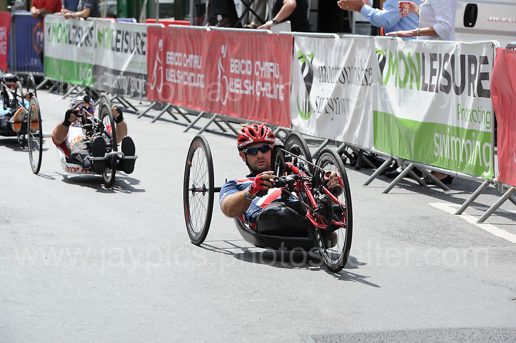 """Competitor Steven Arnold during the Abergavenny Festival of Cycling """"Para Grand Prix of Wales"""" race on Sunday 17th 2016<br /> <br /> <br /> Jeff Thomas Photography -  www.jaypics.photoshelter.com - <br /> e-mail swansea1001@hotmail.co.uk -<br /> Mob: 07837 386244 -"""