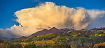 Gunnison National Forest, CO: Billowing clouds over the Ruby Range in early fall